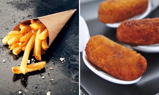 Afhalen: friet + snack voor 2 bij Stadsfrieterie Roermond