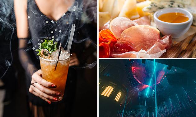 2 of 4 cocktails naar keuze + borrelhapjes in hartje Brugge