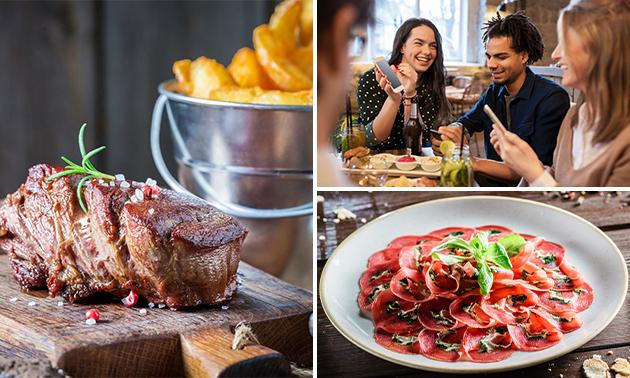 3-gangen keuzediner bij Steakhouse Bella