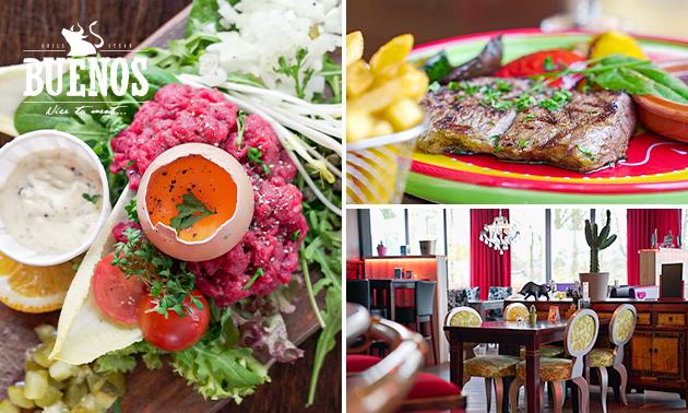 3-gangendiner (25 keuzes) bij Steakhouse Buenos