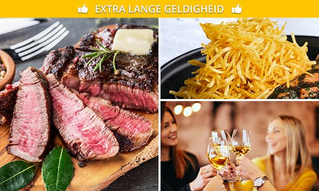 Steak met Hasseltgras + aperitief bij Steakhouse De Witte