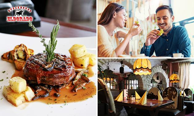 3-gangen keuzediner bij Steakhouse Eldorado