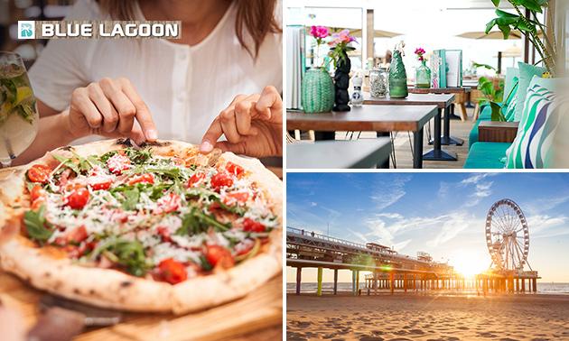 Pizza naar keuze bij Strandpaviljoen Blue Lagoon
