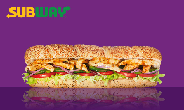 Afhalen bij Subway: grote sub (30 cm)
