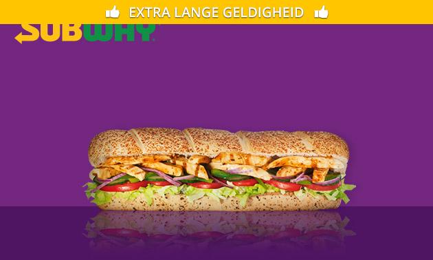 Grote sub naar keuze (30 cm) bij Subway