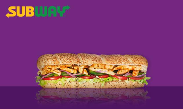 Afhalen: grote sub naar keuze (30 cm) bij Subway