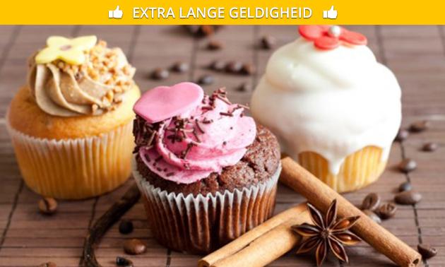 Afhalen: versierde cupcakes (9 of 20 stuks)