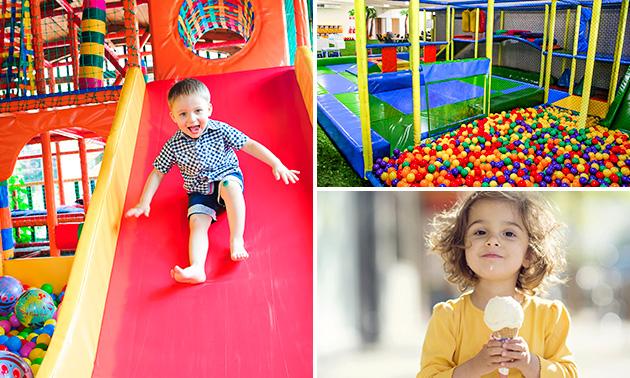 Entree voor indoor speeltuin Summertown + ijsje