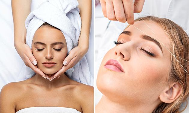 Epileren met draad of gezichtsmassage