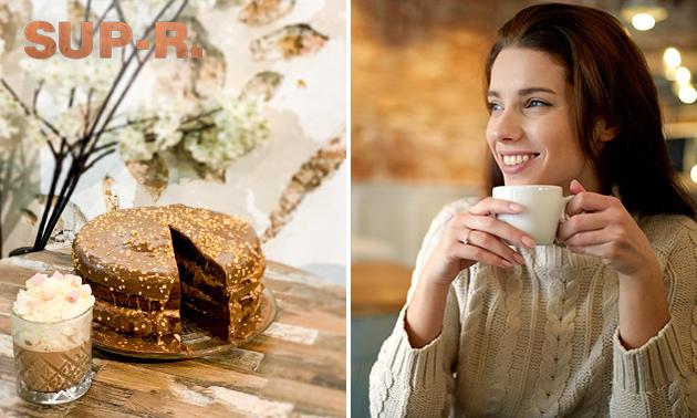 Gebak + koffie/thee naar keuze bij SUP-R.