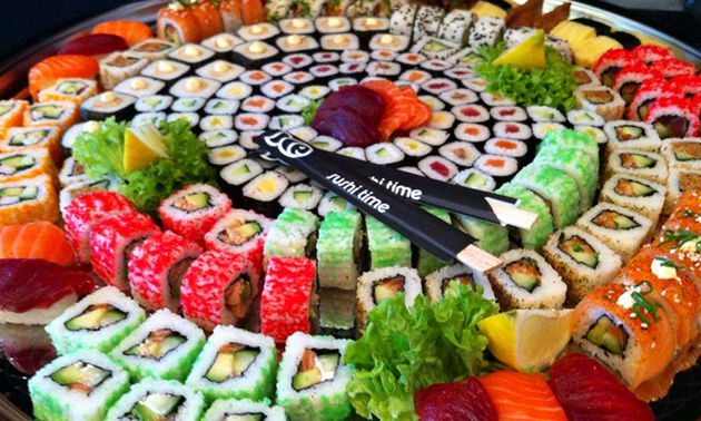 Thuisbezorgd of afhalen: sushibox (24 of 48 stuks) bij Sushi Time