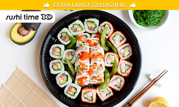 Afhalen: (luxe) sushibox (24 of 48 stuks) bij Sushi Time