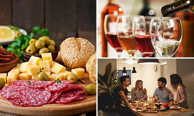 Afhalen: luxe borrelpakket + wijn