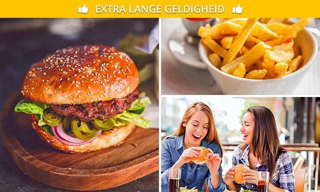 Afhalen: burger + friet + frisdrank naar keuze