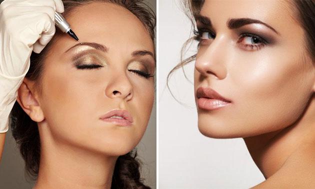 Permanente make-up eyeliner of wenkbrauwen