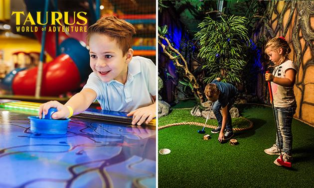 18-holes Adventure Golf + 3 arcademunten