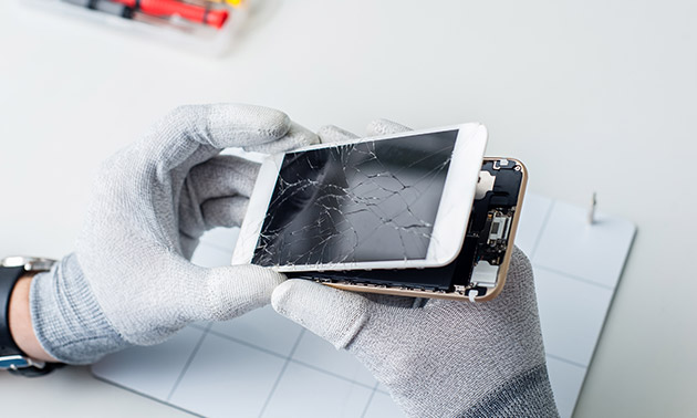 Schermreparatie of batterijvervanging iPhone of Huawei