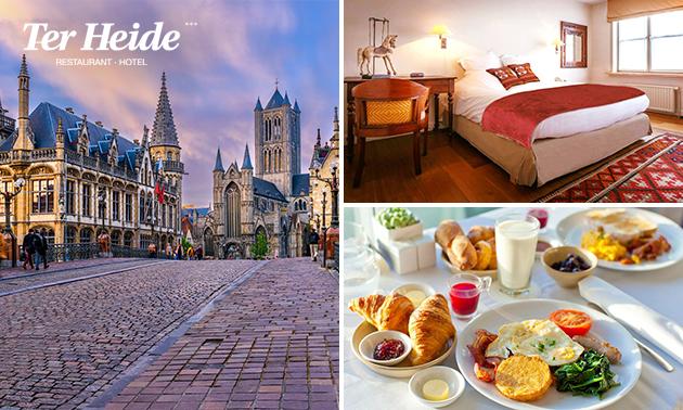 Luxe overnachting voor 2 + ontbijt + evt. diner nabij Gent