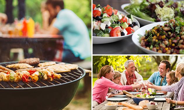 Afhalen: BBQ-pakket + salade + nagerecht