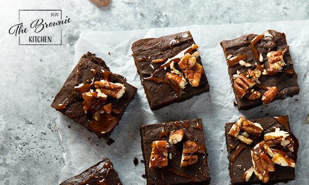 Thuisbezorgd of afhalen: brownies (6, 12 of 24 stuks)