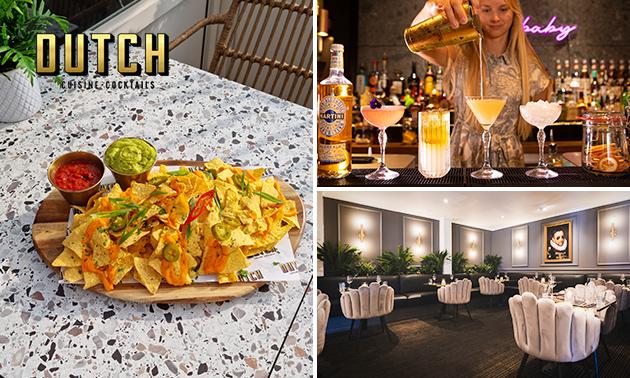 Cocktail naar keuze + nacho's aan zee