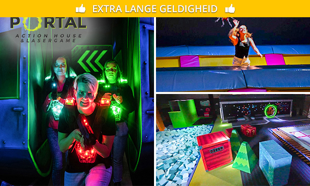 3 uur action house of 2 heats lasergame
