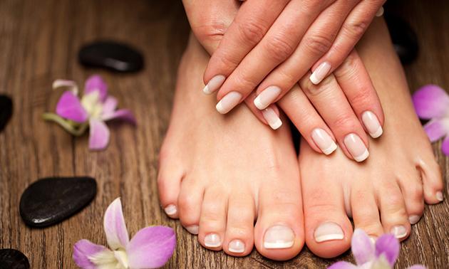 Gellak + mini-manicure- of -pedicurebehandeling