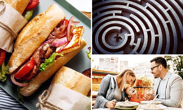 Lunchplank-proeverij + escaperoom-puzzels