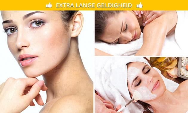 Luxe gelaatsbehandeling + massage (90 min)