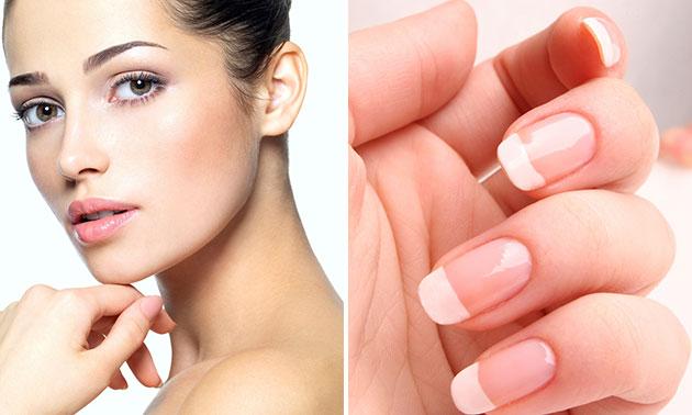 Gezichtsbehandeling + manicurebehandeling (90 min)