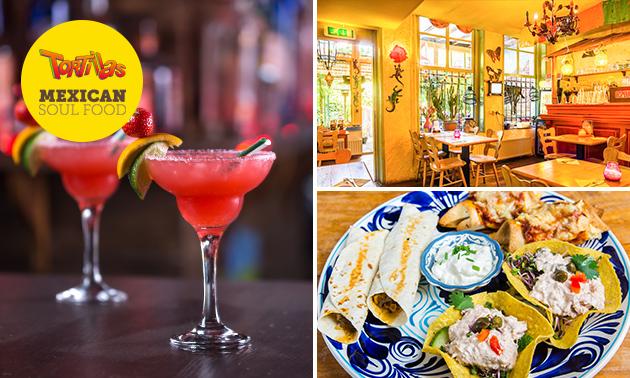 Cocktail- of tequilaproeverij + borrelplank bij Tortillas Breda