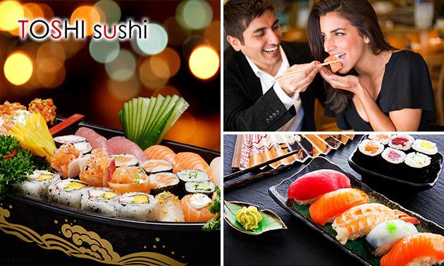 2-gangendiner incl. sushiboot voor 2 bij Toshi Sushi