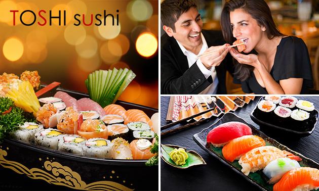 Afhalen: 2-gangendiner voor 2 bij Toshi Sushi
