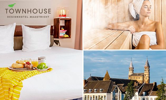 Nuit + petit-déjeuner + bien-être pour 2 à Maastricht