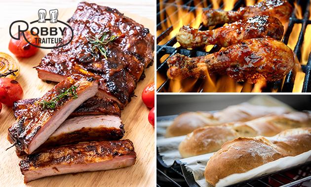 Afhalen of thuisbezorgd: smokey mixed grill-pakket