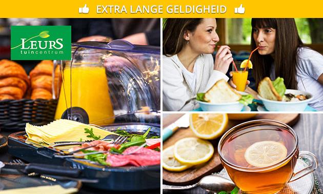 Ontbijt + koffie of thee bij Tuincentrum Leurs
