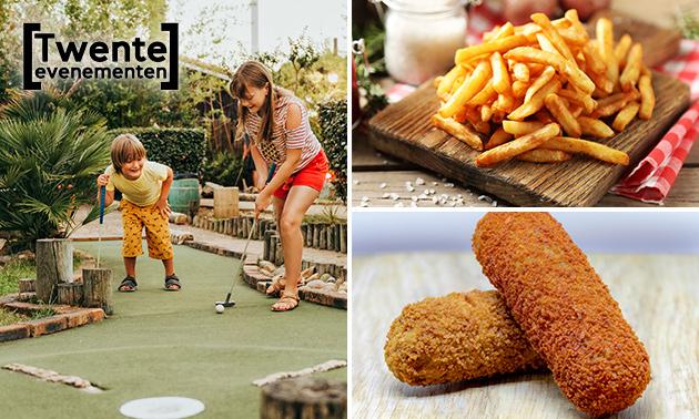 Midgetgolf + friet + snack