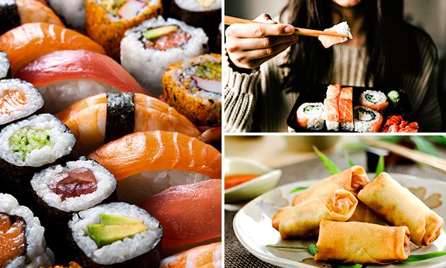 Afhalen: voorgerecht + sushiboot voor 2 personen