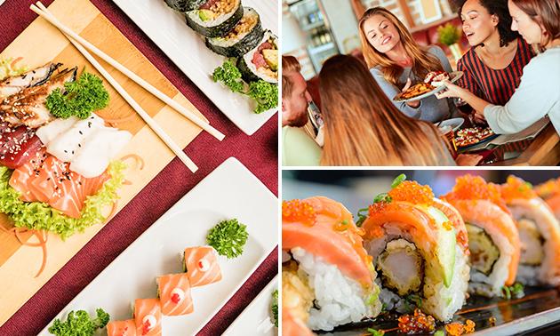 2-gangendiner met sushiboot voor 2 bij Uzume