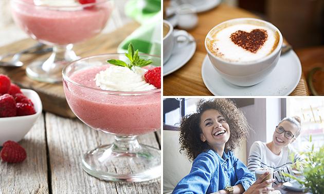 Illy-koffie + 3 dessertglaasjes + bol ijscrème