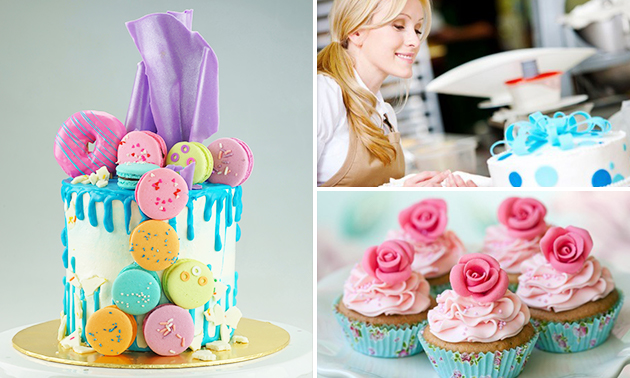 Workshop cupcakes/taart decoreren (2,5 of 3 uur)