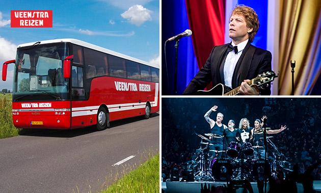 Busreis naar Marco Borsato, Metallica, Bon Jovi of Rammstein