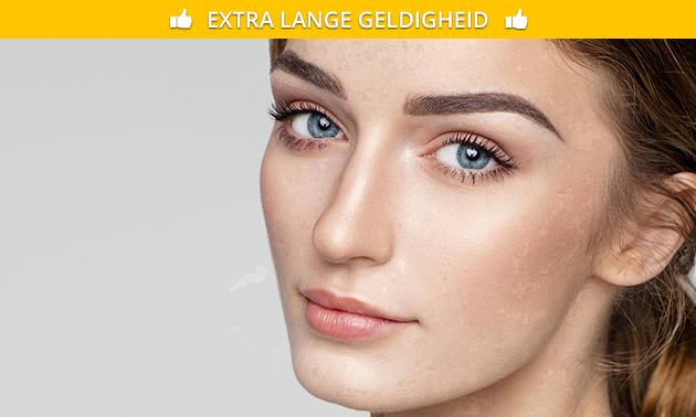 Brow touch up of treatment