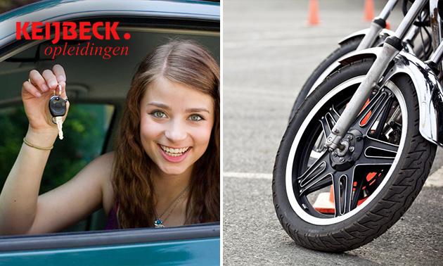 Auto- of motorrijlessen + examen