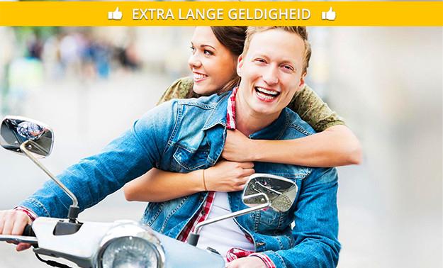 Touren op een scooter