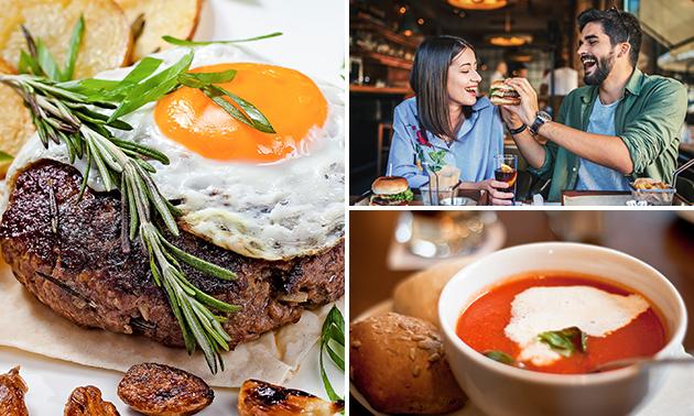 2-gangen keuzelunch bij Villa Maria Steakhouse