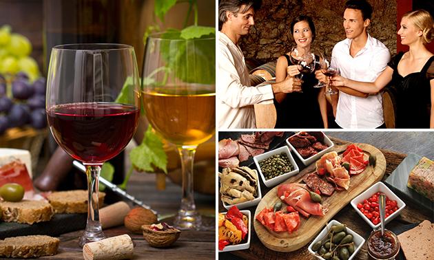 Wijndegustatie + tapas + fles wijn