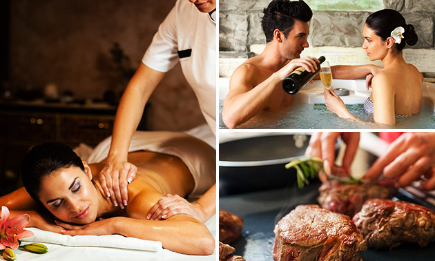 Wellness + massage + dîner pour 2 chez Visa-Versa
