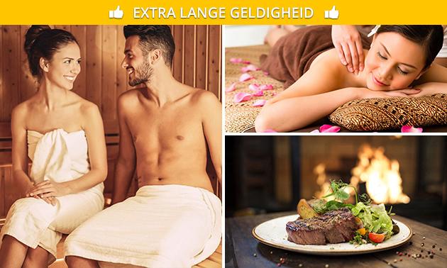 Wellness + massage + diner voor 2 bij Visa-Versa