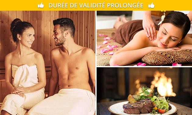 Bien-être + massage + dîner pour 2 chez Visa-Versa